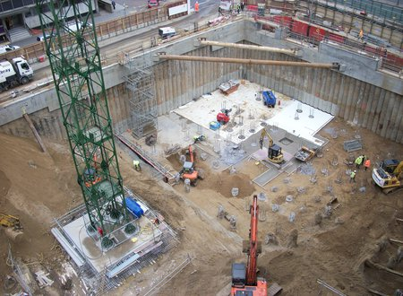 Croydon - Secant Wall and Bearing Piles